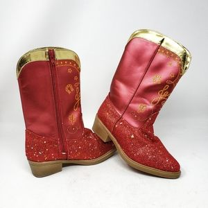 Disney/Pixar | Red Sparkly Girls Cowgirl Boots 13